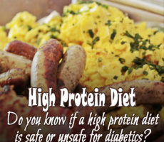Diabetics Needs High Protein Diet For Health